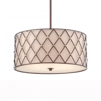 Brown Lattice Large Pendant in Copper Canyon