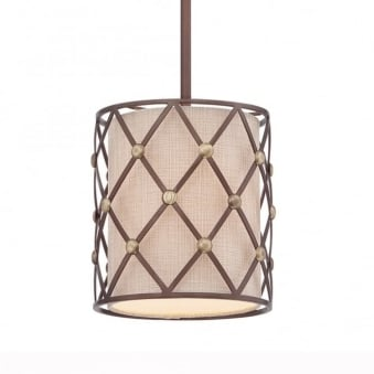 Brown Lattice Mini Pendant in Copper Canyon