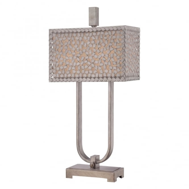 Quoizel Confetti Desk Lamp in Old Silver