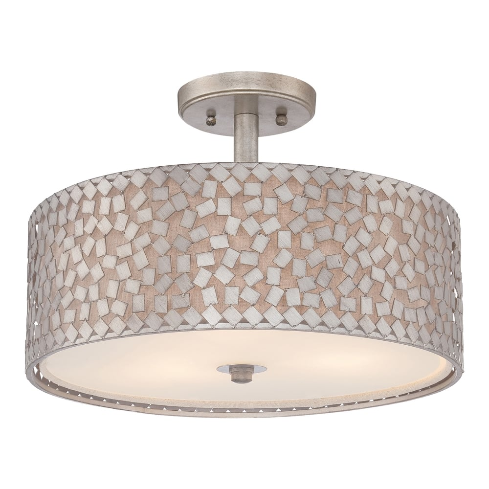 Quoizel confetti semi flush ceiling light in old silver fitting confetti semi flush ceiling light in old silver aloadofball Choice Image