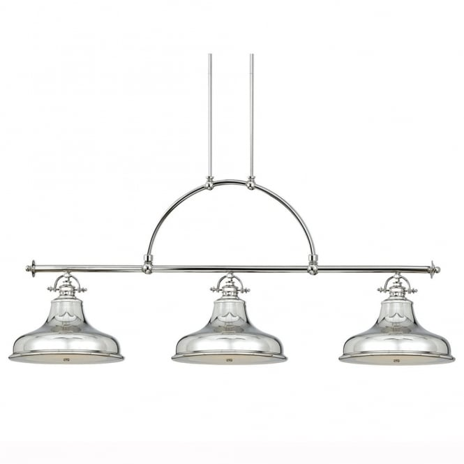 Quoizel Emery Three Light Bar Pendant in Imperial Silver