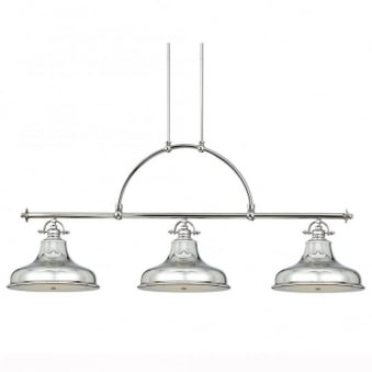Emery Three Light Bar Pendant in Imperial Silver