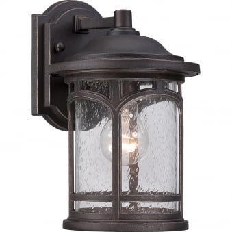 Marblehead Small Outdoor Wall Lantern in Palladian Bronze