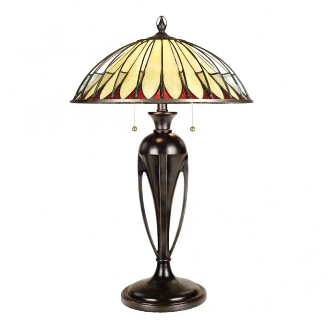 Quoizel Tiffany Alahambre Table Lamp in Vintage Bronze