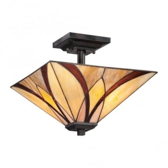 Tiffany Asheville Semi Flush Ceiling Light