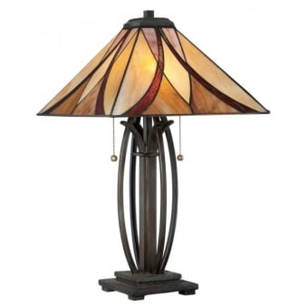 Tiffany Asheville Table Lamp in Valiant Bronze