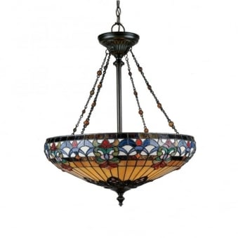 Tiffany Belle Fleur Pendant Light in Vintage Bronze