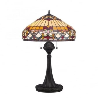 Tiffany Belle Fleur Table Lamp in Vintage Bronze