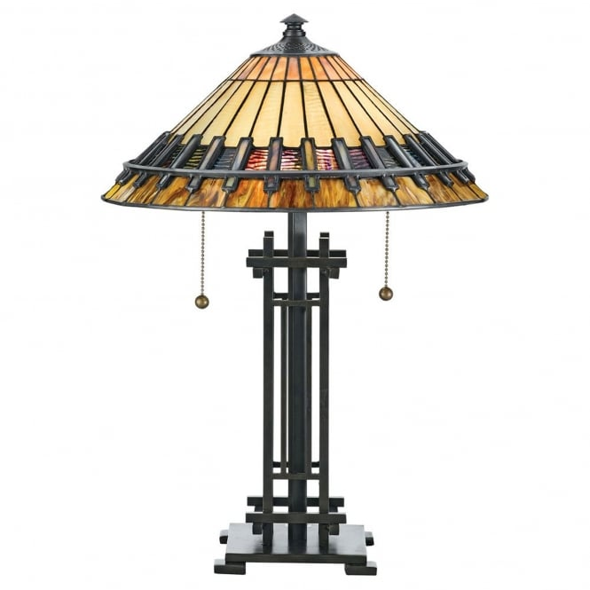 Quoizel Tiffany Chastain Table Lamp in Vintage Bronze