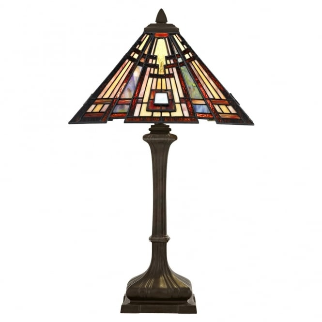 Quoizel Tiffany Classic Craftsman Table Lamp in Valiant Bronze