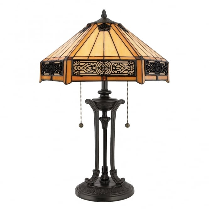 Quoizel Tiffany Indus Table Lamp in Vintage Bronze