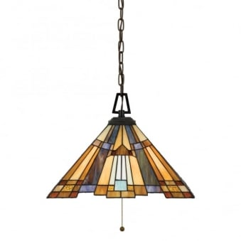 Tiffany Inglenook Ceiling Light Pendant
