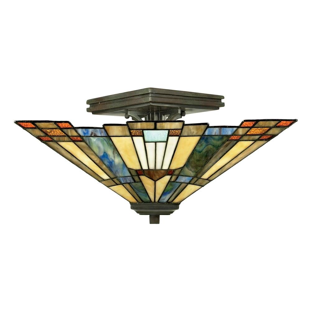 Quoizel Tiffany Inglenook Semi Flush Ceiling Light ...