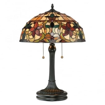 Tiffany Kami Table Lamp in Vintage Bronze