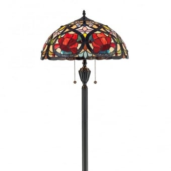Tiffany Larissa Floor Lamp in Vintage Bronze