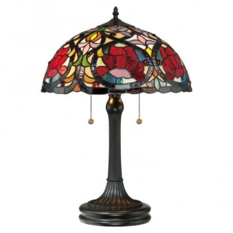 Tiffany Larissa Table Lamp in Vintage Bronze