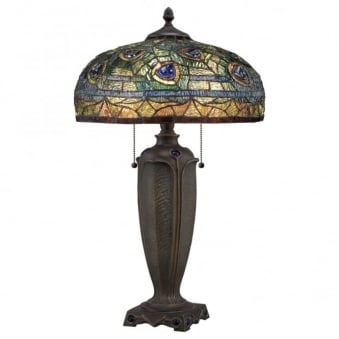 Tiffany Lynch Table Lamp in Bronze