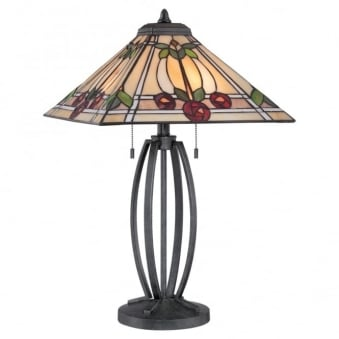 Tiffany Ruby Table Lamp in Vintage Black
