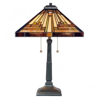 Tiffany Stephen Table Lamp In Vinatge Bronze