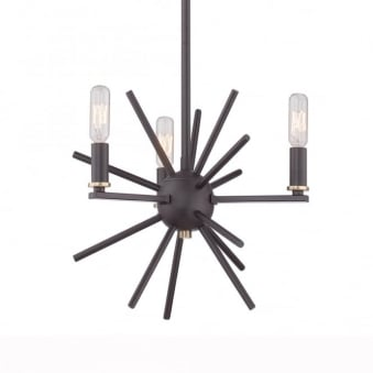 Uptown Carnegie 3 Light Chandelier in Western Bronze