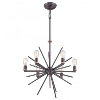 Uptown Carnegie 6 Light Chandelier in Western Bronze