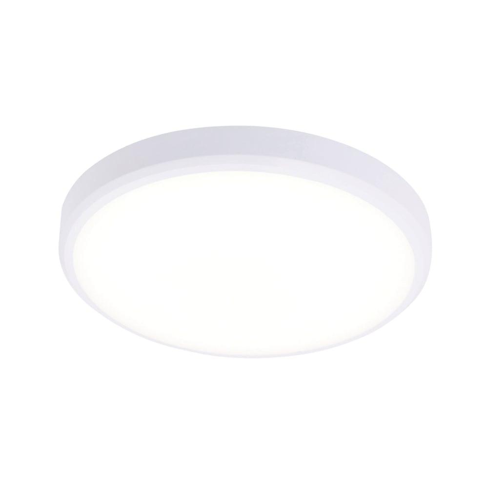 Saxby 70488 cobra xs round led cool white bathroom light in white cobra xs round led cool white bathroom light in white aloadofball Images