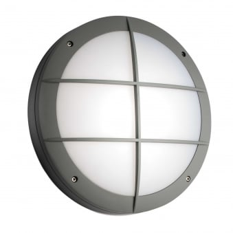 Luik Motion Sensor Grill IP65 Outdoor Light in Grey