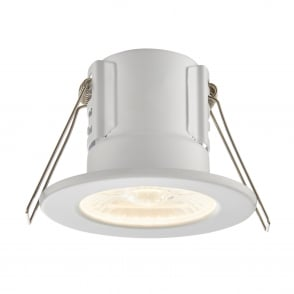 Saxby Lighting Shield Eco 500 IP65 4W 3000K Dimmable LED Downlight in White