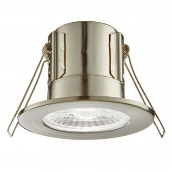 Shield Eco 500 IP65 4W 4000K Dimmable LED Downlight in Satin Nickel