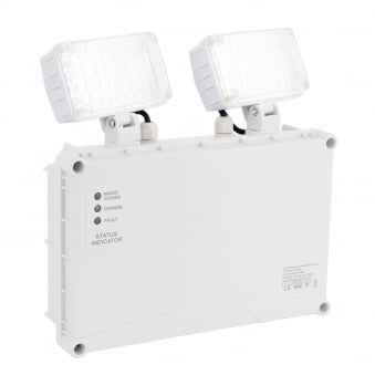 Sight Twin Exterior Spot 2 x 3W IP65 Non-Maintained Emergency Light