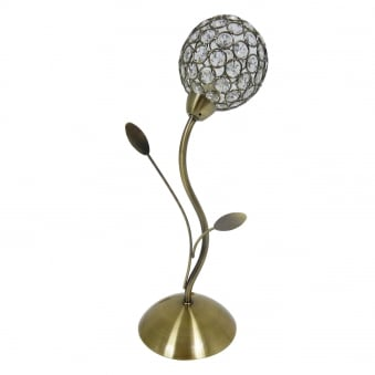 Bellis II Antique Brass Finish Switched Table Lamp