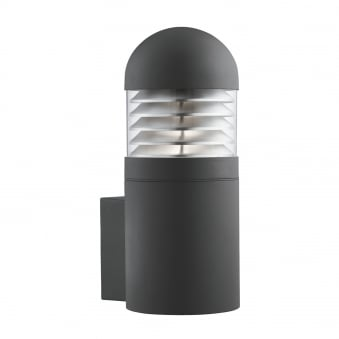 Cylindrical Black Outdoor Post Lamp in Matt Finish