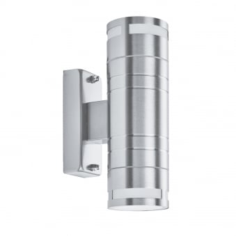 Exterior & Porch Double GU10 LED Stainless Steel Light Cylinder