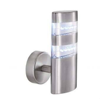 LED Outdoor Stainless Steel IP44 Oval Wall Light
