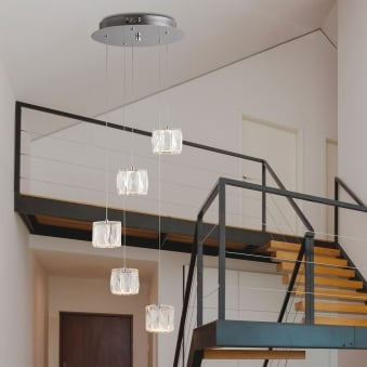 Maxim Five Drop Light LED Octagon Pendant