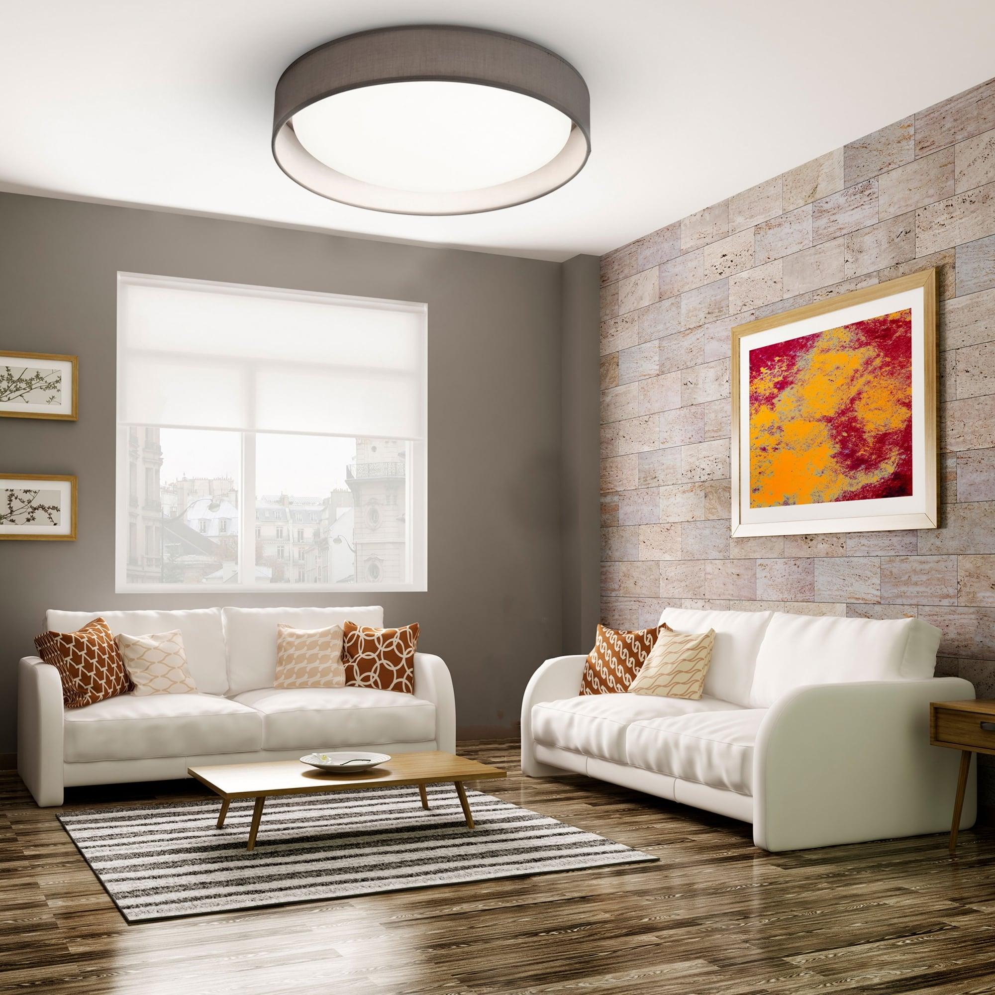 Led Flush Ceiling Light, Contemporary Living Room Ceiling Lights Uk