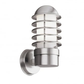 Modern Outdoor IP44 Wall Light in Satin Silver Finish