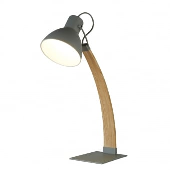 Nanna Matt Grey and Light Wood Table Lamp