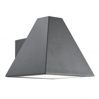 Pyramid Outdoor Wall Light in Dark Grey