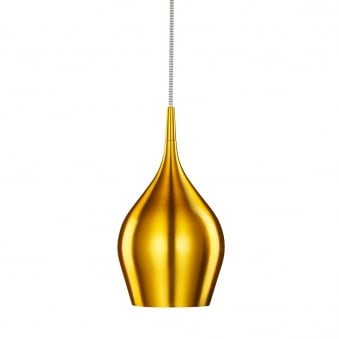 Vibrant Gold Aluminium Breakfast Bar Light