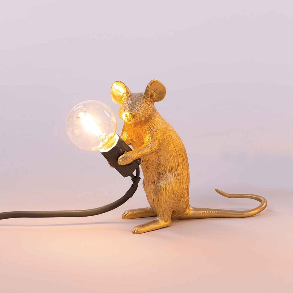 Mouse Finish Gold in Sitting Edition Lamp fgY6vbI7y