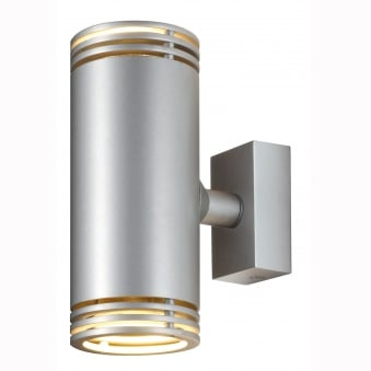 Barro Up / Down Wall Light in Silver Grey