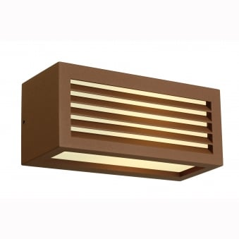 Box-L E27 Wall Light Rust Coloured