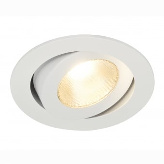 Contone White Round Adjustable 3000K-2000K Dimmable LED Downlight