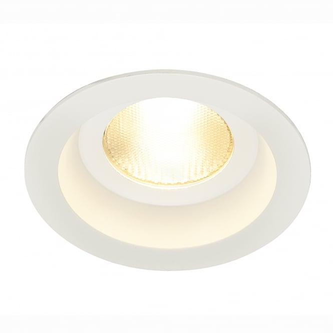 SLV Contone White Round Fixed IP44 3000K-2000K Dimmable LED Downlight