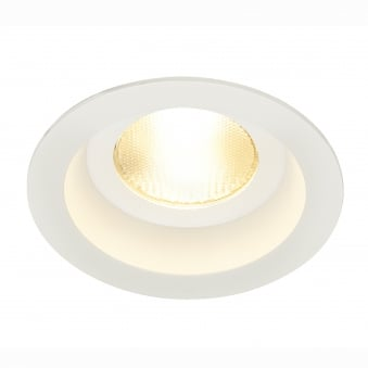 Contone White Round Fixed IP44 3000K-2000K Dimmable LED Downlight