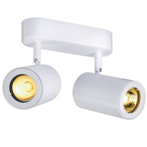Enola B Double Wall and Ceiling Spotlight in White