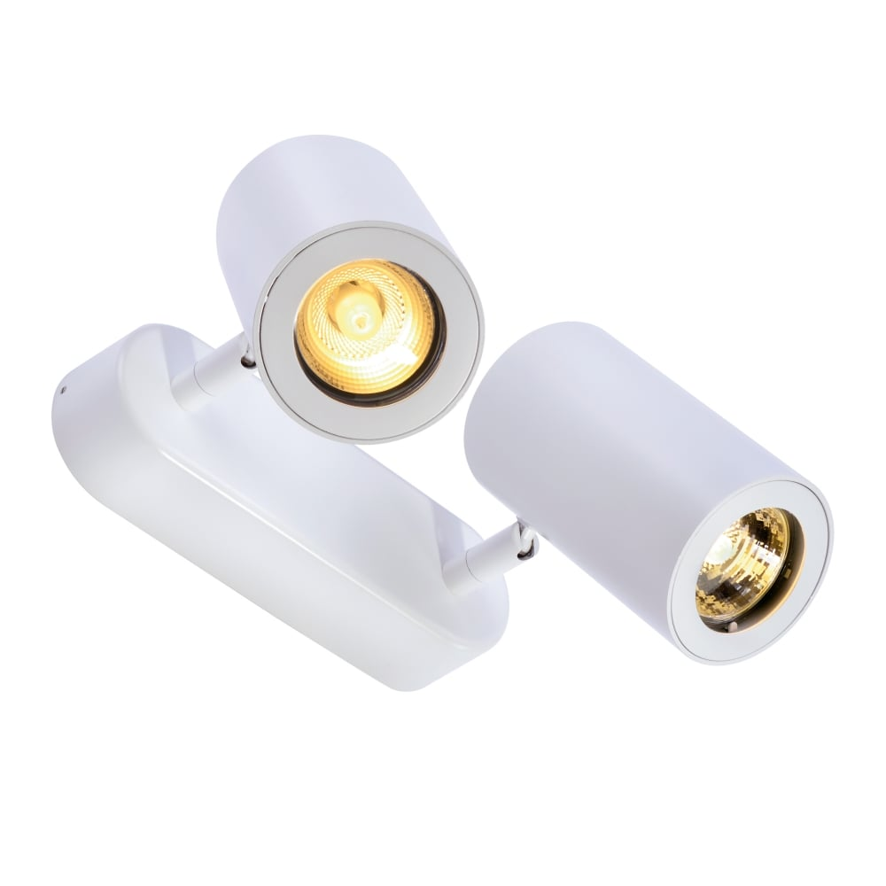 Slv enola b double wall and ceiling spotlight in white enola b double wall and ceiling spotlight in white aloadofball Choice Image