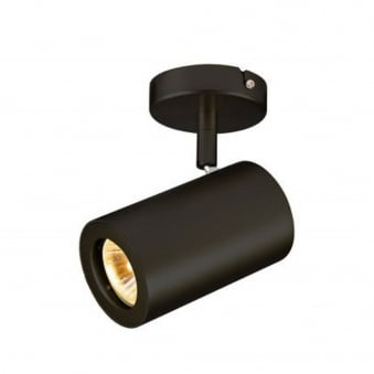 Enola B Single Wall and Ceiling Spotlight in Black