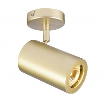 Enola B Single Wall and Ceiling Spotlight in Brass
